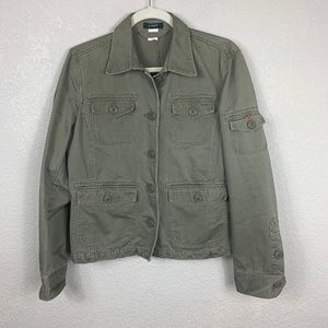 J Crew Green Utility Military Jacket - Medium